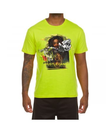 Rapheal Black SS Tee (Acid Lime)