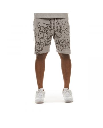 Group Chat Short (Heather Grey)