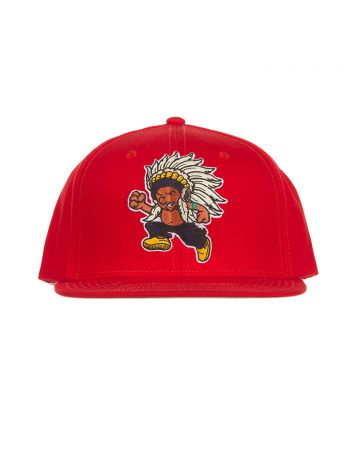 Running Chief Snapback Hat (Racing Red)