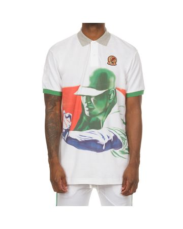 Slow Ball SS Polo (Bleached White)
