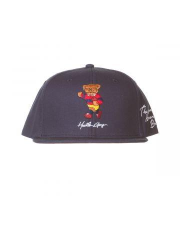 Hustle Bear Snapback Hat (Navy Blazer)