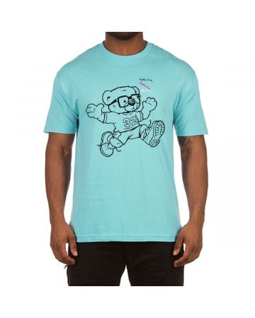 H-Bear Jump SS Tee (Pool Blue)
