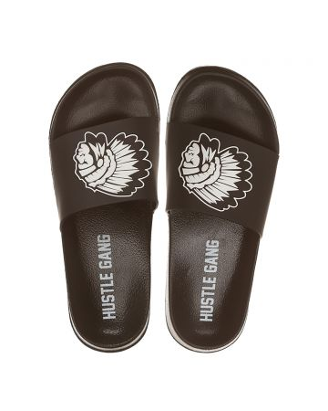 Big Chief Slide Sandals (Black Beauty)