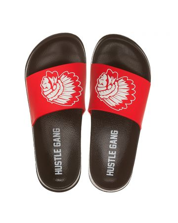 Big Chief Slide Sandals (Racing Red)