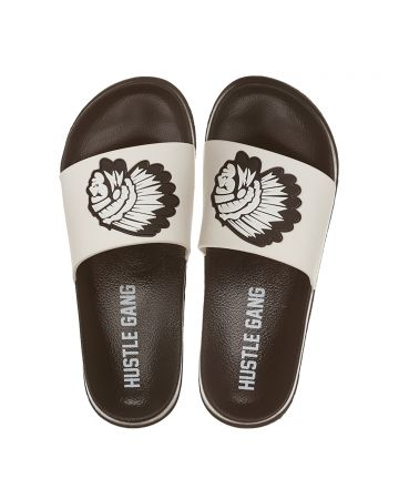 Big Chief Slide Sandals (White)