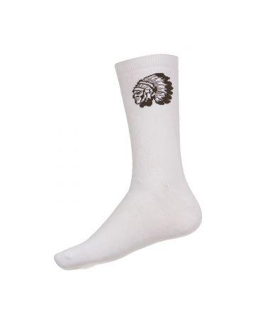 Big Chief Socks (White)